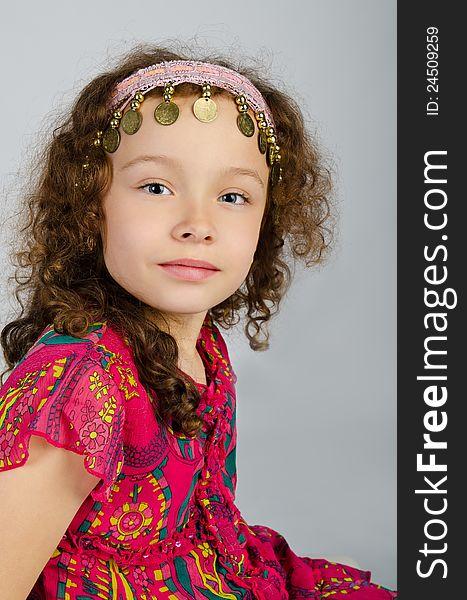Portrait of cute smiling little girl