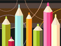 Free Seven Colored Pencils Royalty Free Stock Photos - 24515678