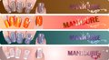 Free Manicure Banners Set Stock Photos - 24518153