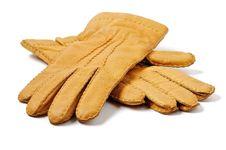 Men S Ginger Gloves Royalty Free Stock Image