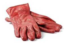 Free Women S Red Leather Gloves Royalty Free Stock Images - 24511069