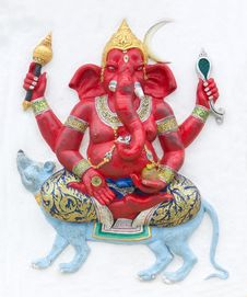 Free Hindu Ganesha God Royalty Free Stock Image - 24513006