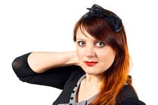 Free Beautiful Girl Isolated Royalty Free Stock Photography - 24514577