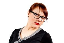 Free Beautiful Business Woman With Glasses Stock Image - 24514611