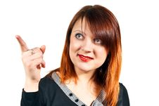 Free Girl Points The Finger Royalty Free Stock Photography - 24514697