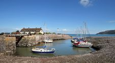 Free Porlock Harbour In Somerset, England Stock Photos - 24515003