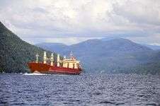 Free Freight Ship. Royalty Free Stock Photography - 24515177