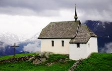 Free Church In The Mountains. Royalty Free Stock Image - 24515276