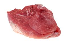 Red Piece Of Meat On White Stock Image