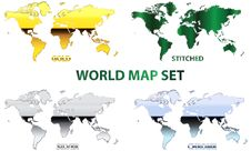 Free World Map Set Stock Photography - 24516472