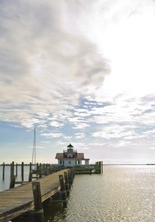 Free Lighthouse At Manteo Royalty Free Stock Photography - 24518327