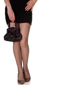 Free Beautiful Legs  In Foil-stockings And High Heels S Royalty Free Stock Photography - 24518597