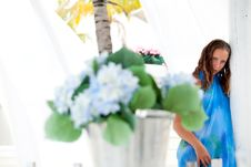Free Girl And Flowers Stock Photos - 24518613