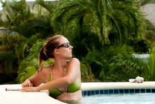 Free Girl In The Pool Royalty Free Stock Photography - 24518617