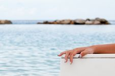 Free Hand In The Sea Royalty Free Stock Photography - 24518767