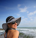 Free Happy Woman On The Beach Royalty Free Stock Image - 24523086
