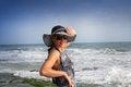 Free Woman On The Sea Shore Royalty Free Stock Photos - 24523158