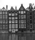Free Unesco Canal Houses In Amsterdam Along The Canal, Netherlands Stock Photography - 24523582