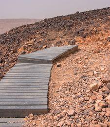 Free Crater Mizpe Ramon - Negev Desert Stock Images - 24523084