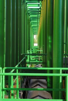 Free Geometries Of Green Pipes Stock Images - 24524474