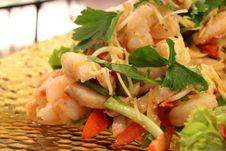 Free Spicy Shrimp Salad Stock Photography - 24526292