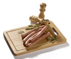 Free Bavarian Sausages Royalty Free Stock Images - 24526849