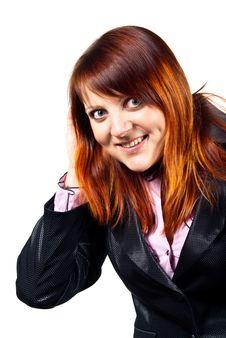 Free Beautiful Redheaded Girl Isolated Stock Photos - 24527063