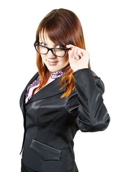 Free Beautiful Girl Holding Glasses Royalty Free Stock Image - 24527426