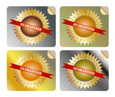 Free Guaranteed Label Colorful Royalty Free Stock Photography - 24527977