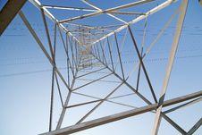 Free Inside Of Steel Pylon On Blue Sky Stock Photo - 24528210