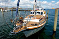 Free Beautiful Classical Sail Yacht In Frontal View Royalty Free Stock Image - 24532636