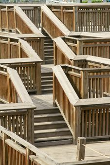 Wooden Stairs Stock Image
