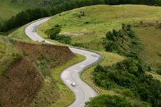 Free Curvy Mountain Road Stock Photography - 24533622