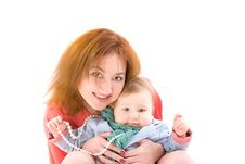 Free Portrait Of Mother And Her Baby Royalty Free Stock Image - 24535236