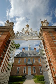 Governor's Palace Gate Royalty Free Stock Photography