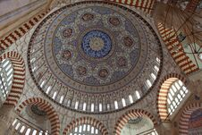 Dome Of Selimiye Mosque, Edirne. Royalty Free Stock Photos