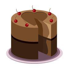 Free Tasty Chocolate Cake Royalty Free Stock Photos - 24537708