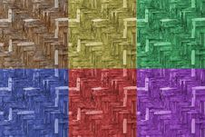 Free Various Color Of Bamboo Wicker Wall Royalty Free Stock Image - 24539126