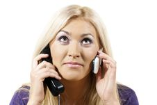 Free Girl Talking On The Phone Many Stock Images - 24539424