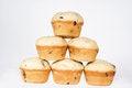 Free Cakes With Raisins Isolated Stock Image - 24541211