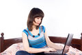 Free Girl Laptop On The Internet Stock Images - 24541354