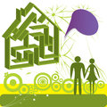 Free Family In Dream House Royalty Free Stock Images - 24545749
