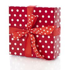 Free Red Gift Box Stock Image - 24540021