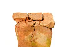 Free Building An Old Red Brick Isolated On A White Royalty Free Stock Images - 24540249