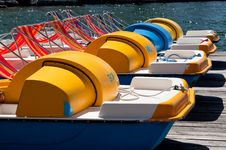 Free Pedal Boats Stock Images - 24540344