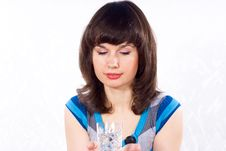 Free Girl Holding A Glass Of Water Stock Photo - 24541640