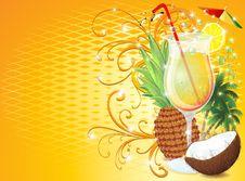 Tropical Exotic Fruit Drink-Fresh Pina Colada Stock Image