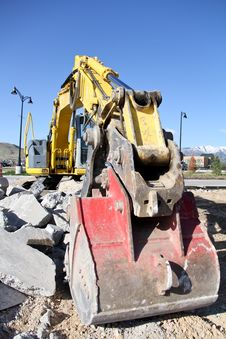 Free Back Hoe &x28;Portrait&x29; Royalty Free Stock Images - 24544079