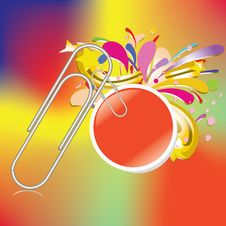 Free Paper Clip With Bubble Business Stick Royalty Free Stock Images - 24545719