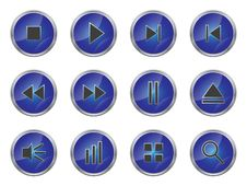 Button Set 1 Royalty Free Stock Photography